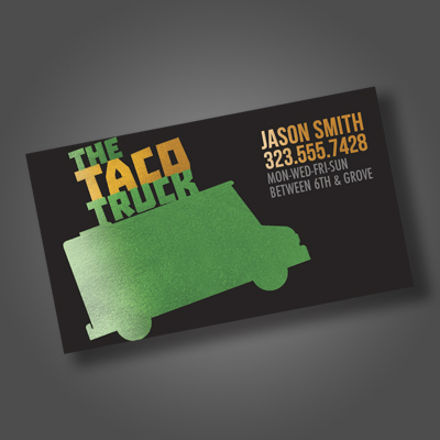 Akuafoil business cards product image colourmoves