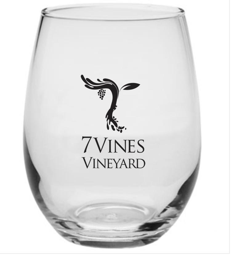 7 Vines 9oz. Stemless glasses