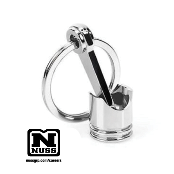 Nuss Piston Key Ring