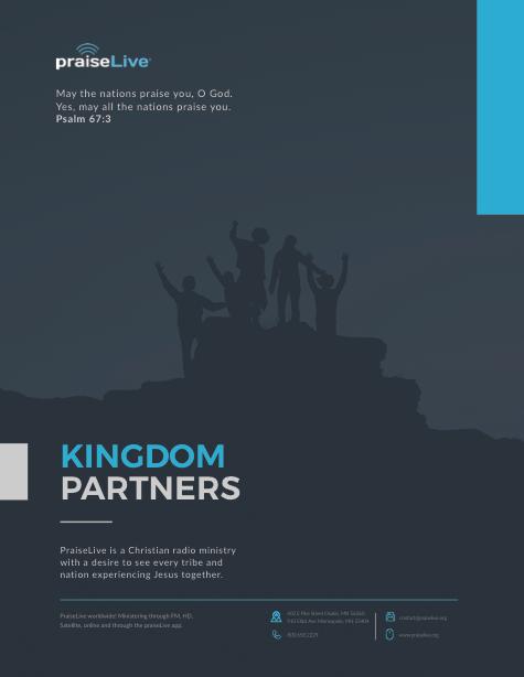 Praise Live Kingdom Partners 16pg
