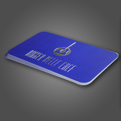 Silk Laminated Cards with foil