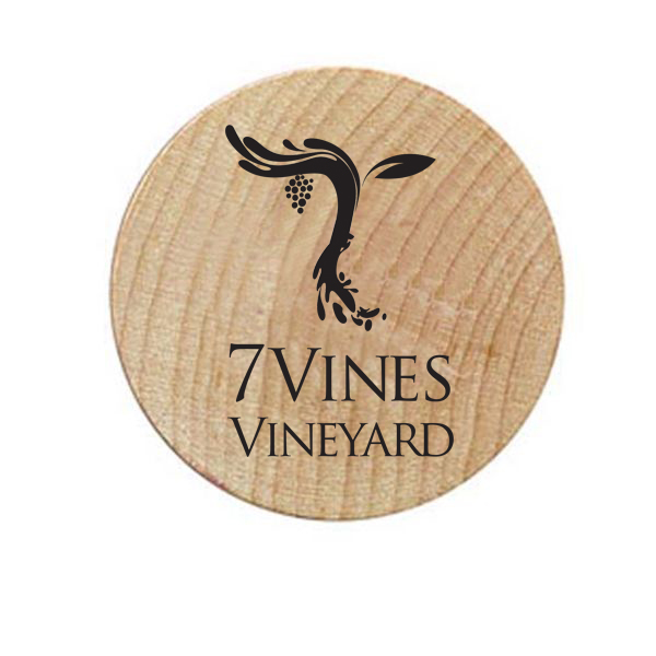 7 Vines Vineyard Wooden Tokens