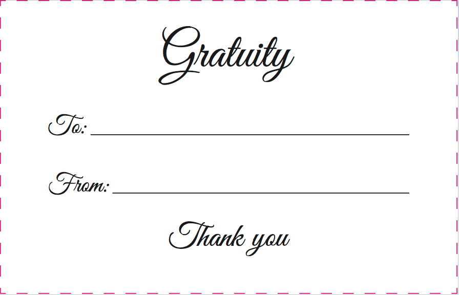 Ultimo Gratuity Envelope
