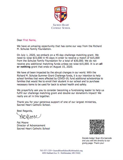 Sacred Heart July 2020 Mailer