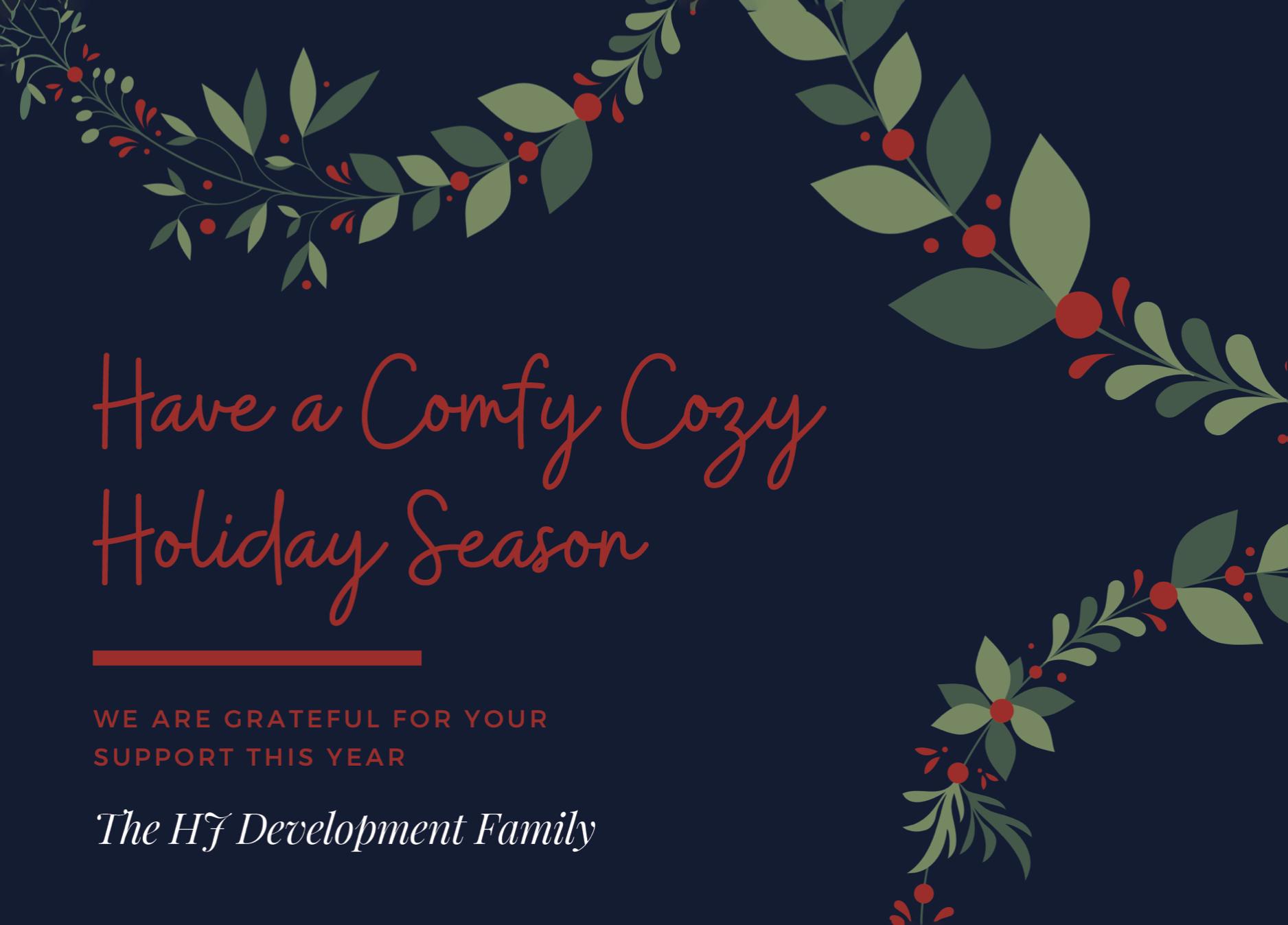 HJ Development Holiday cards